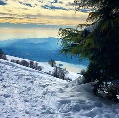 View from Mottarone (marti_na91) Tags: mountain lake snow island view bellavista neve monte montagna piedmont mottarone martina91