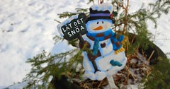 Let it snow (Perfect Day_) Tags: blue winter red snow nature children snowman holidays letitsnow canoneos600d