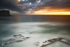 Avalon Pool from Above Sunrise (sachman75) Tags: ocean longexposure sea seascape pool clouds sunrise rocks sydney australia wideangle nsw newsouthwales avalon seabath avalonbeach leefilters bigstopper avalonoceanpool avalonrockpool sonyzeiss1635mmf4zaoss sonya7rii ilce7rm2