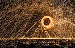 4/52 Outdoor. (Suggsy69) Tags: longexposure motion circle outdoors fire lights dangerous nikon energy outdoor lighttrails 452 sparks wirewool 52weekproject d5100 wirewoolspinning week4theme 52weeksthe2016edition week42016 weekstartingfridayjanuary222016