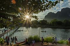 Sundown in Vang Vieng (jennifer.stahn) Tags: travel river nikon asia asien sundown laos vang vieng karstberge aroundasia