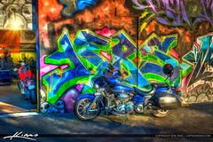 Motorcycle with Graffiti Art West Palm Beach (Captain Kimo) Tags: motorcycle photoart photopainting photomatix hdrphotography hdrphoto topazclean topazsimplify captainkimo