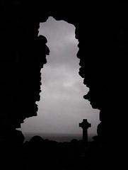 Early Christian Britain (bruce.marshall2@btinternet.com) Tags: ireland church window silhouette britain map ruin celticcross