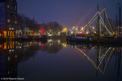 Rotterdam Old Harbour - II (Theunis Viljoen LRPS) Tags: reflection netherlands fog rotterdam oldharbour oudehaven