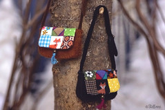 Patchwork (*stellinna*) Tags: snow forest miniature doll handmade sewing magic folklore purse tiny fox bjd blythe patchwork couture enchantedforest poupe forestfriends stellinna foresttales