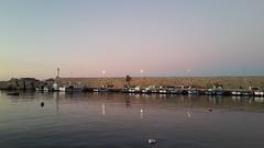 Crepuscolo (RoBeRtO!!!) Tags: blue light sunset sea sky reflection water lamp tramonto mare harbour porto cielo sicily acqua azzurro luce lampione riflesso crepuscolo isoladellefemmine rdpic