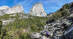 Along the John Muir Trail (Images by John 'K') Tags: panorama mountain rock landscape nikon outdoor hiking ridge trail yosemite yosemitenationalpark mountainside stitched 28300mm rockformation johnk d600 nevadafall johnmuirtrail nikond600 johnkrzesinski randomok