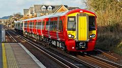 387201 (JOHN BRACE) Tags: station for working class emu express seen derby built gatwick bombardier 387 thameslink livery horley 2015 unbranded electrostar 387201