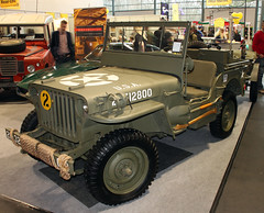 War veteran (The Rubberbandman) Tags: world auto usa classic car america truck radio germany army us model war jeep outdoor military badass wwii scout ii german american vehicle oldtimer trailer bremen ww mb willys motorshow fahrzeug recon reconnaissance