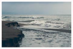Where the river meets the sea (s1nano) Tags: sea seascape beach river landscape sand waves greece cinematic thalassa vivitarseries170210f35 nikond7000