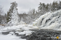 """""""Frosted Waterfall""""  Lower Bond Falls (Michigan Nut) Tags: winter snow ice nature river landscape frozen waterfall frost michigan scenic spray waterfalls upperpeninsula bondfalls johnmccormick michiganwaterfalls michigannutphotography"""