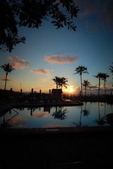 Sunrise (Barbara2112) Tags: morning trees sunset shadow beach pool relax evening early cool shadows florida scene palm chillin serenity poolside breeze pompano sillouet