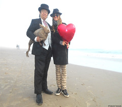 Dr. Takeshi Yamada and Seara (Coney Island Sea Rabbit) at the winter swimming event by the Coney Island Polar Bear Club at the Coney Island Beach in Brooklyn, New York on January 10 (Sun), 2015.  Mermaid with the red heart-shaped balloon.  20160110Sun DSC (searabbits23) Tags: winter ny newyork sexy celebrity art beach fashion animal brooklyn asian coneyisland japanese star yahoo costume tv google king artist dragon god cosplay manhattan wildlife famous gothic goth performance pop taxidermy cnn tuxedo bikini tophat unitednations playboy entertainer samurai genius donaldtrump mermaid amc mardigras salvadordali billclinton hillaryclinton billgates aol vangogh curiosities bing sideshow jeffkoons globalwarming takashimurakami pablopicasso steampunk damienhirst cryptozoology freakshow barackobama polarbearclub seara immortalized takeshiyamada museumofworldwonders roguetaxidermy searabbit ladygaga climategate