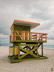 No Lifeguard on duty (FOXTROT ROMEO) Tags: beach clouds strand florida miami lifeguard miamibeach fla baywatch