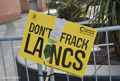 DSC_2530A (jane.hards) Tags: street people yellow demo protest streetphotography lancashire banners anti blackpool causes nanas placards appeal fracking frackfreefylde