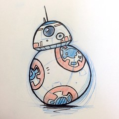 BB-8 (Left Handed Mutant) Tags: star sketch starwars force wars droid awakens bb8 theforceawakens