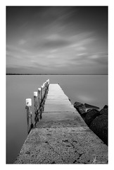 SLIP AND SLIDE (Vaughan Laws Photography   www.lawsphotography.com) Tags: ocean longexposure blackandwhite bw seascape water beautiful skyline clouds canon landscape pier rocks skies outdoor fineart le serenity ndfilter newlocation neutraldensityfilter longshutterexposure canon6d nd10stop portraitfineart lawsphotography vaughanlaws longexposurebwfineart
