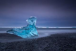 Icy boulder