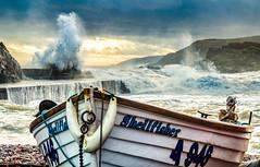 Cove (Gordon Nicoll) Tags: storm coast boat waves aberdeen coveharbour