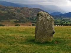 Castlerigg Stone Circle - one of the larger stones. (Buster&Bubby) Tags: trekking walking unitedkingdom hiking lakedistrict stonecircle castlerigg castleriggstonecircle