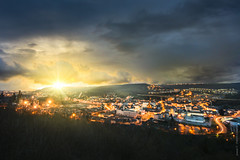Fensch - Moselle (Jimmy__T) Tags: city morning light sun france sunshine night canon soleil europe 1018 lorraine ville moselle valle hayange 70d fensch