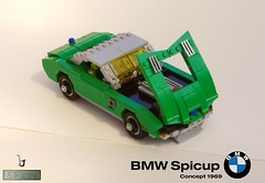 BMW / Bertone Spicup - Concept 1969 (lego911) Tags: auto italy green classic 1969 car germany one spider model italian lego spyder german hundred bmw 100 lantern 1960s concept win ways coupe challenge e9 lugnuts gandini moc bertone miniland lego911 spicup onehundredwaystowin