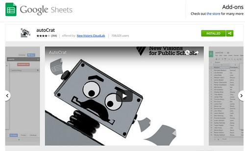 autoCrat for Google Sheets by Wesley Fryer, on Flickr