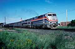 Leaving Rochester (jwjordak) Tags: newyork station train us unitedstates platform rochester amtrak 31 p40 passengertrain amtk train48