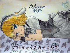 Sharo Kirima (Gochuumon wa Usagi desu ka) (Emmanuel11119) Tags: anime drawing character wa ka usagi desu sharo kirima gochuumon