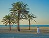 Beach Boys (shlomo2000) Tags: ocean white tree men beach strand outside three sand islam traditional playa palm emirates sheikh palmier dishdasha thawb kandura