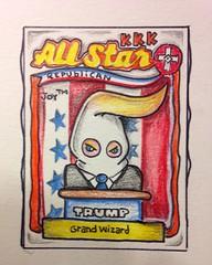 "#donaldtrump #trump #racist #cartoon (AkA the ""Joy"") Tags: cartoon donaldtrump trump racist"