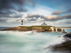 It looks your for moment, and get lost in them (Ivan Ant) Tags: travel sunset sea sky lighthouse seascape primavera landscape faro mar spring ngc paisaje galicia isla pancha viajar ribadeo