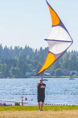 SammParkJun15 (5 of 6) (triforfun) Tags: park lake kite man water grass state issaquah sammamish
