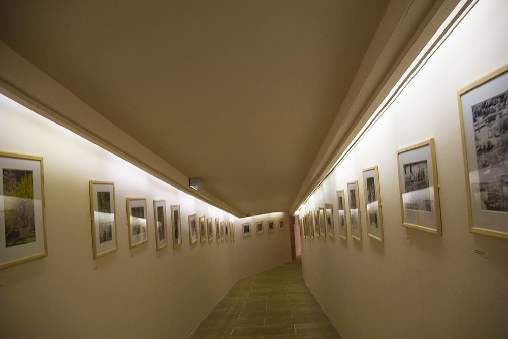 Fondation Gianadda - Corredor com fotos