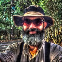 Only Me (emj1300) Tags: new portrait orange brown sun man black tree green me look hat sunglasses self beard see heart matthew gray hdr rugged iphone365