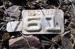 1961  Montana License Plate Tab (montanatom1950) Tags: montana licenseplate helenamontana