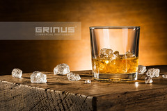 Glass of whisky on the rocks (Grinus Commercial Photography) Tags: ice with beverage packshot drinks whisky productphotography produktfotografie fotografiareklamowa fotografiaproduktowa fotografiakomercyjna