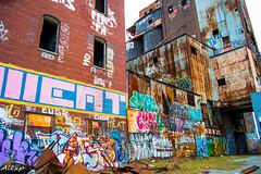 StinkyFactory (Mystikopoulos) Tags: streetart art abandoned colors shop graffiti factory mtl montreal creepy graff grime exploration creep usine urbex
