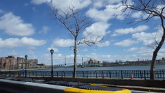 """""""And Go Round and Round and Round in the Circle Game"""" (catchesthelight) Tags: building clouds skyscrapers manhattan bridges bluesky views eastriver newyorkcityny travelbycar tobronx"""