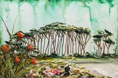 LS36X24-2016-114 (Justin Gaffrey) Tags: trees lake art nature water painting artist waves florida coastal pines wildflowers acrylicpaint seaoats 30a lakescape westernlake sowal justingaffrey