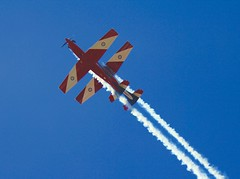 Double Vision (Psychic Insights) Tags: blue red sky white airplane focus outdoor aircraft smoke extreme australia melbourne grandprix short planes tall airforce formula1 stunts biplanes