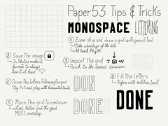 How to easily create monospace all capital lettering in Paper 53 (xLontrax) Tags: handwriting lettering tutorial monospace sketchnote madewithpaper paper53
