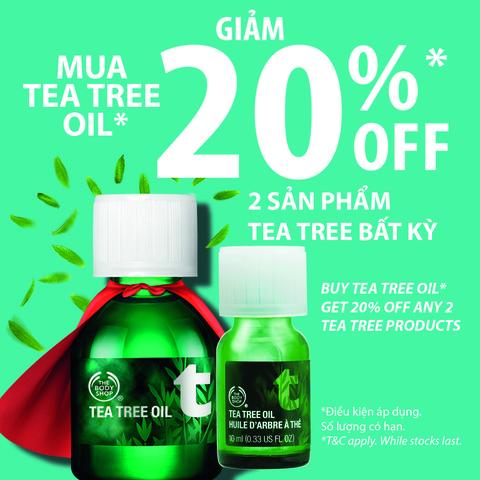 Giảm 20% áp dụng 2 sản phẩm Tea Free bất kỳ