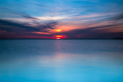 Turquoise (PhotoJacko - Jackie Novak) Tags: longexposure sunset sky sun seascape nature water clouds evening turquoise indiana lakemichigan washingtonpark michigancity gndfilter leefilternd6softgnd singhraydarylbensonreversegndfilter
