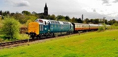 Railway Pictures. (beejay1946) Tags: grey scots deltic55022royal deltic55007pinza