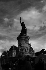 Version 2 (danielrieu) Tags: blackandwhite bw paris france statue liberty noiretblanc nb libert rpublique placedelarepublique