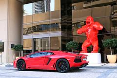 Lamborghini Aventador LP700-4 (R_Simmerman Photography) Tags: red marina mall hotel spring dubai boulevard walk garage united parking main uae entrance emirates khalifa arab saudi kuwait abu dhabi lamborghini qatar burj supercars valet combo jbr 2016 sportcars dubaicars hypercars aventador lp7004 carsofdubai