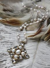 N-4192 (Kotomi_) Tags: vintage necklace costume handmade style jewelry medieval jewellery collection polymerclay historical period byzantine springsummer naturalstone semiprecious 2016  kotomi    kotomiyamamura kotomijewellery