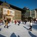 Pista de patinação na praça