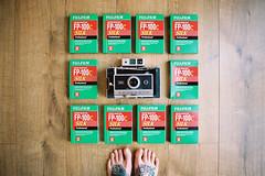 Save Instant Film  (Hello i'm Wild !) Tags: wood film feet home analog ink 35mm floor tattoos canonae1 cameraporn instantfilm kodakportra400 fp100silk polarodland250